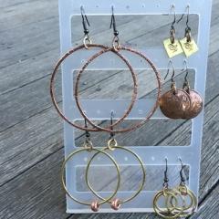 copper & brass earrings